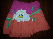 CHRISTIAN LACROIX Womens Flair Sari Birthday Cake Candles Skirt Sz 36 Pink White