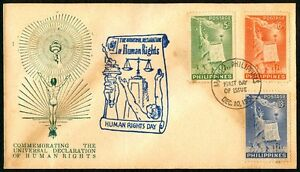 Philippine-1951-Universal-Declaration-of-Human-Rights-FDC-H