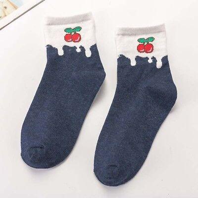 Women Cute Harajuku Fruit Funny Socks Kawaii Peach/Banana Japanese Casual Socks