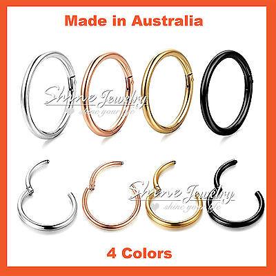 Titanium Seamless Segment Clicker Septum Ear Lip Nose Ring Piercing Earring Hoop