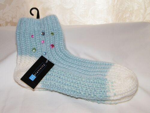 r Relativity Knit Lounge Slipper Grip Socks Size 9-11 New Ladies elativity
