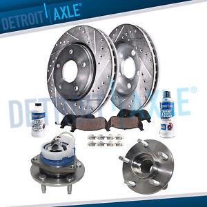 Brake Rotors Pads for DTS Lucerne LaCrosse V8 Front Wheel Bearing ...