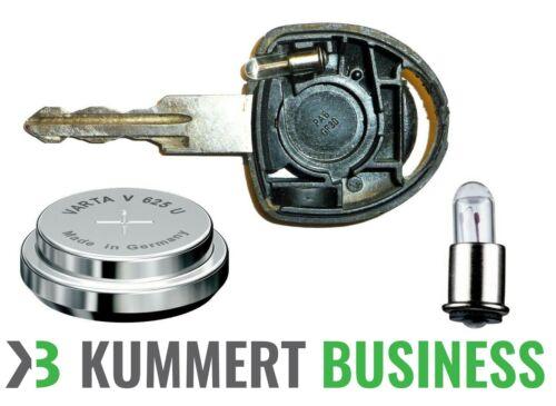 Varta V625U Batterie /& Miniatur Lampe Birne Autoschlüssel Zündschlüssel Audi VW