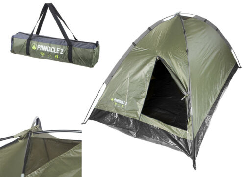 Summit Pinnacle Tent 2 Person or 4 Person Dome Camping Festival Dark Green