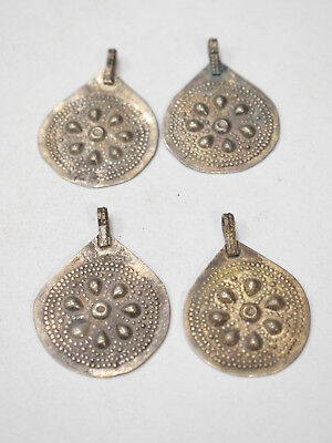 Beads Middle Eastern 1980 Kuchi  Heart Pendants