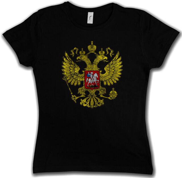 RUSSIAN EAGLE VINTAGE LOGO GIRLIE SHIRT  Soviet Union CCCP Russia Rußland UDSSR