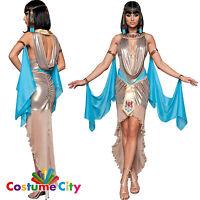 Womens Ladies Egyptian Queen Cleopatra Pharaoh's Treasure Fancy Dress Costume