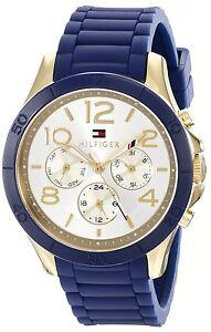 0f2098cbe Tommy Hilfiger Original 1781523 Women's Blue Silicone Strap Watch ...
