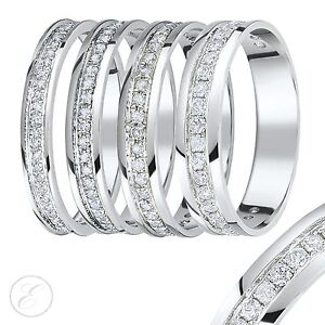 9ct-White-Gold-Diamond-Eternity-Ring-0-15ct-Quarter-Carat-Third-Carat-Half-Carat