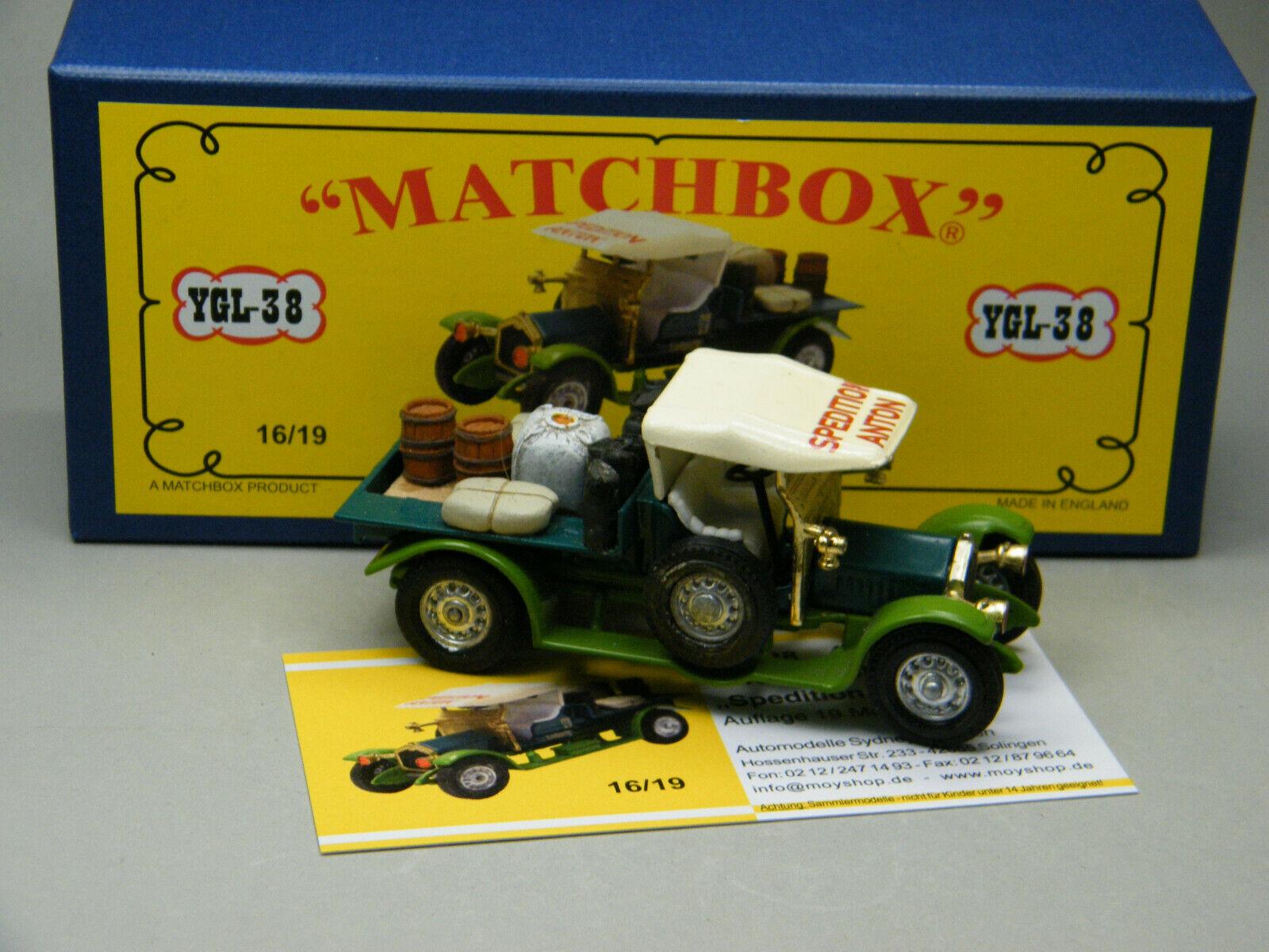 Matchbox MoY Code 2 YGL-38 Crossley Umbau Pritsche mit Ladung bluee Box 1 von 9