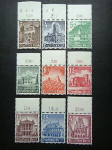 Germany Nazi 1940 Stamps MNH Building Castle Heidelberg Town Hall Theater WWII T