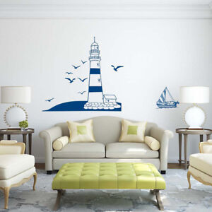 Fashion-amovible-Lighthouse-Wall-Stickers-Decalques-Art-Mural-Vinyle-Home-Decor-A-faire-soi-meme