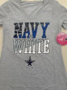 b96ec966 Image is loading DALLAS-COWBOYS-OFFICIAL-NFL-NAVY-amp-WHITE-WOMENS-