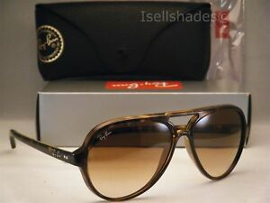 63b04afe63c Ray Ban 4125 Cats 5000 Tortoise w Brown Gradient Lens (RB4125 710 51 ...