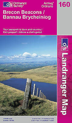 Brecon Beacons by Ordnance Survey (Sheet map, folded, 2002)