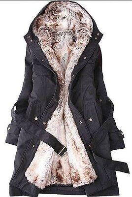 Hot! Lady Women Thicken Warm Winter Coat Hood Parka Overcoat Long Jacket Outwear
