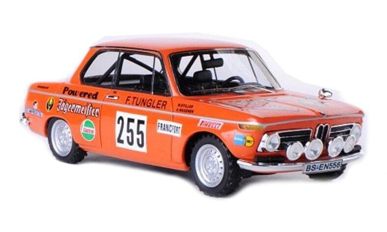 Bmw 2002 Tii Jägermeister N°255 Rallye Monte Carlo 1973 Stiller 1 43 Neo
