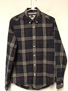 50431b79 Tommy Hilfiger Men's Shirt Button Down Long Sleeve Flannel Size S/P ...