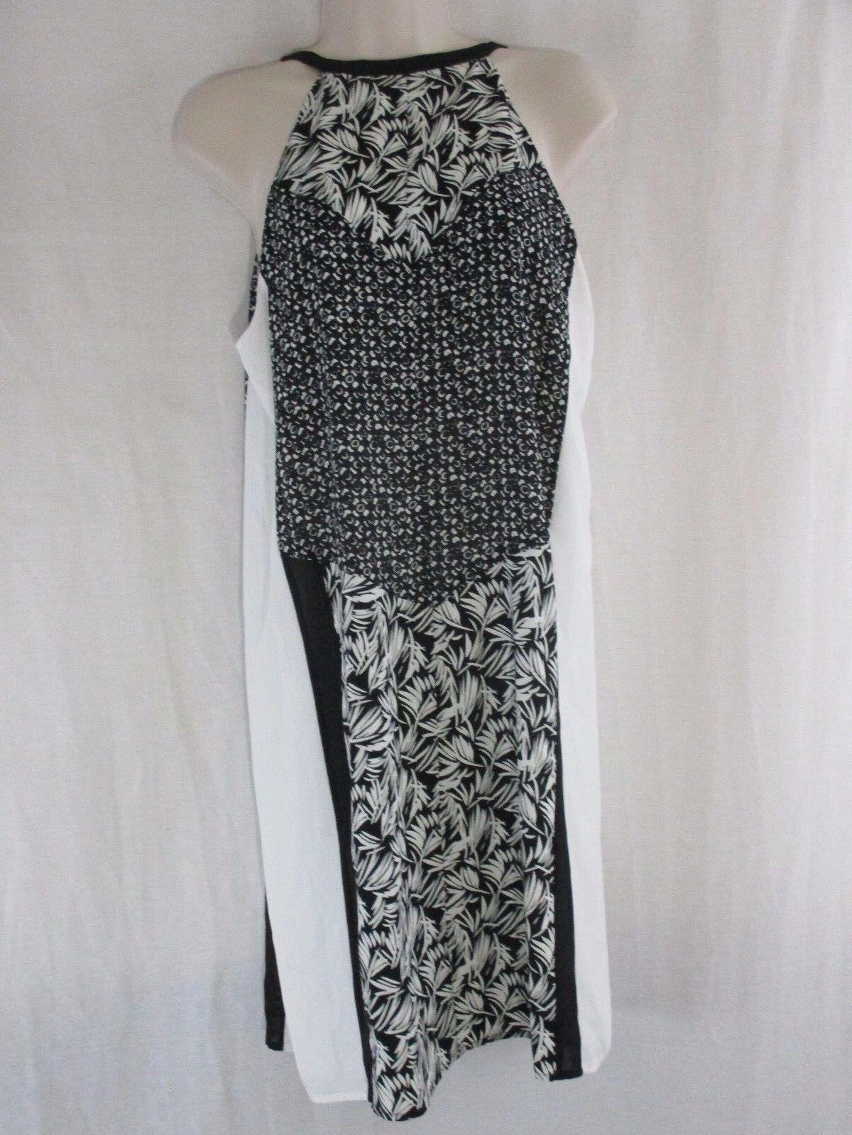 Chaus Woherren Tribal Mix Graphic Flash Halter  Dress, Medium, Weiß schwarz    b7