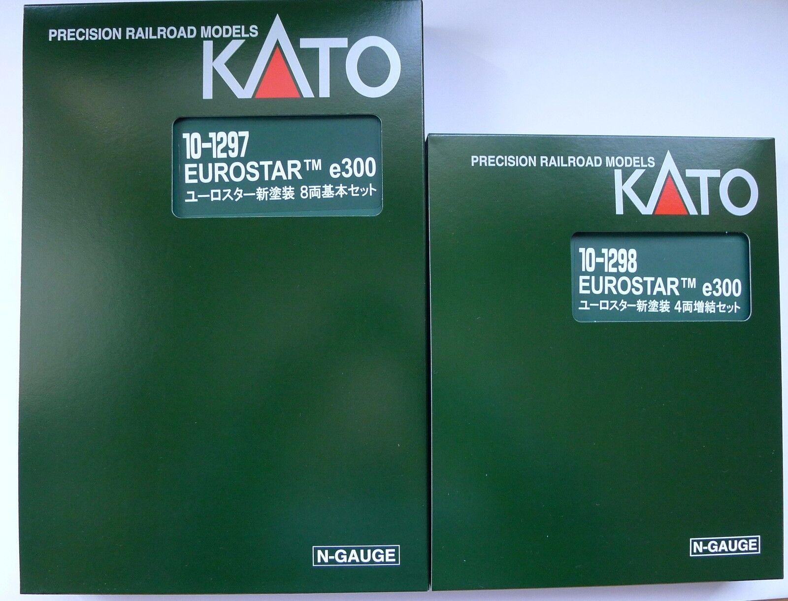 Kato Escala N 10-1297 10-1298 Nuevo Color e300 12 coches EuroEstrella Set