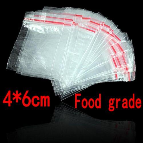 1000Pcs Food grade Plastic Clear Zipper Ziplock Reclosable Seal Storage Bags Lot