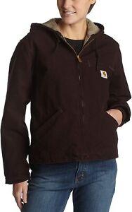 Regular and Plus Sizes Carhartt Women/'s Sherpa Lined Sandstone Sierra Jacket