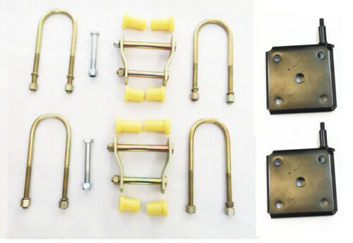 REAR LEAF SPRING FITTING KIT /& HANGER PLATES for MITSUBISHI L200 2.5 K74  96-06