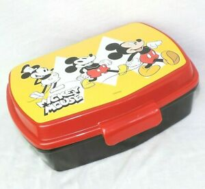 DISNEY Brotdose * MICKEY 90th * Plastik BUNT Lunch Box Aufbewahrung Vorratsdose