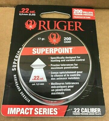 Ruger Impact Series 22 Caliber Superpoint Pellets