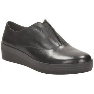 Clarks-Demi-Grace-black-leather-ladies-shoes-pumps-flats-size-2-34-5-E-Wide-fit