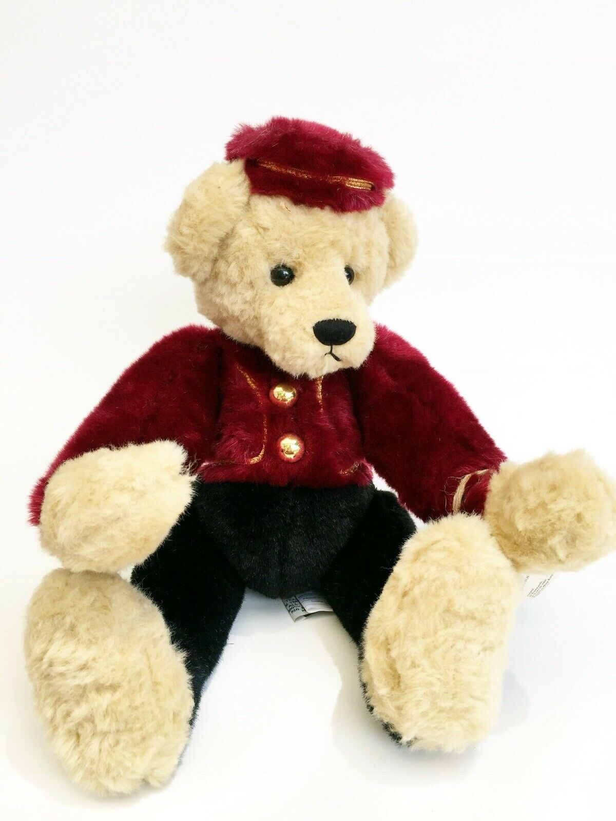 Timothy F. Wuzzie Bellhop Bear Yes No CC1423 Ganz Cottage Collectible