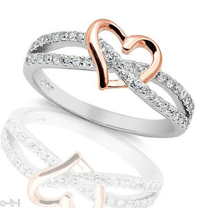 14k-Rose-Gold-Heart-Simulated-Diamond-Genuine-Sterling-Silver-Infinity-Love-Ring
