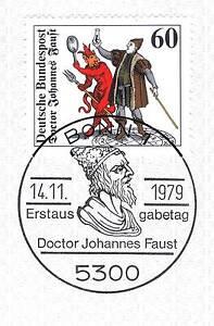 Efficace Rfa 1979: Docteur Johannes Faust Nº 1030 Avec Propre Bonner Cachet Spécial! 1904-afficher Le Titre D'origine à Tout Prix