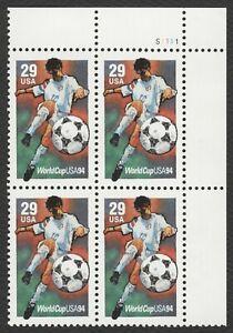 #2834 29c Copa Del Mundo, Placa Bloque [S1111 Ur ] Nuevo Cualquier 4=