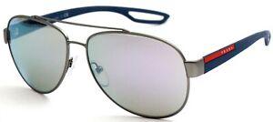 Prada-Sport-Herren-Damen-Sonnenbrille-SPS55Q-DG1-2E2-59mm-verspiegelt-S-DL2-H