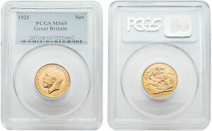 Great-Britain-1925-King-George-V-Sovereign-Gold-PCGS-MS-65