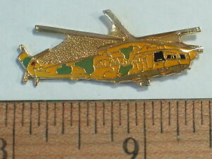 Vintage MI-24 HIND Helicopter Russian Military Pin, Badge Hat, Tack Lapel Pin