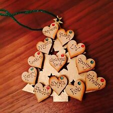 Personalised Family Christmas tree decoration ��❤️️
