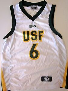 best sneakers 09eb0 d1a44 Details about U OF SAN FRANCISCO DONS YOUTH NCAA BASKETBALL JERSEY NEW! #6  S, L OR YOUTH XL