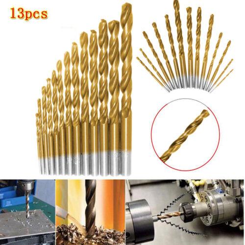 13 Pc Left Handed Drill Bit Set Backwards Steel Reverse Bolt Remover M4J9