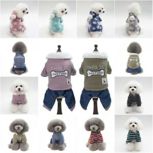 Pet-Dog-Winter-Warm-Hoodie-Jumpsuit-Coat-Puppy-Thicken-Jacket-Coat-Clothes-US