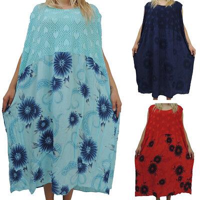 Tolles Damen Kleid Größe 52 54 56 58 60 Kleider Übergröße Blumenmuster Spitze  eBay