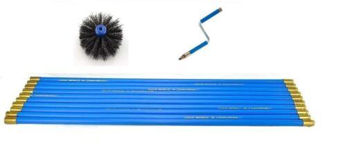 "Bailey Universal Chimney Sweep Sweeping Set with 6/"" Brush /& Rotating Handle"