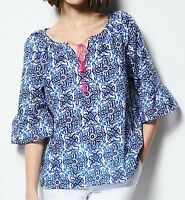 Milly For Designation Tile Peasant Top Size Small;nwt