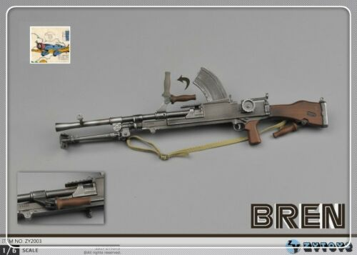 1:6 Scale Figura Azione ZYTOYS WW2 dell/'esercito britannico UK mitragliatrice Bren modello