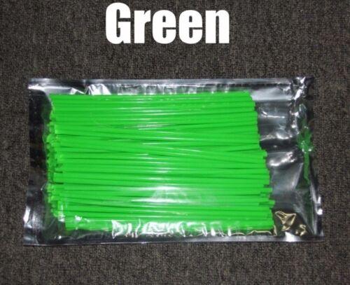 Green 72pcs Wheel Spoke Skin Cover Wrap Kit for Motorcycle Motocross Dirt Bike