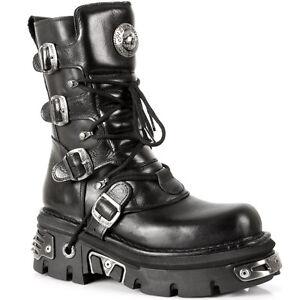 Rock Boots S4 373 New Nero Unisex Style U48pp7zq