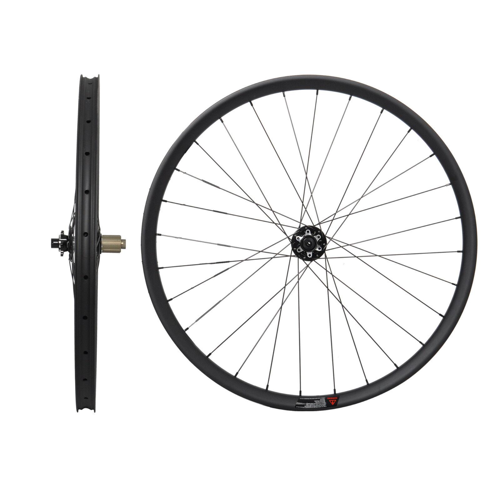 29er Carbon MTB Wheel Novatec 12mm QR UD Matt Clincher Disc Tubeless Rim 35mm