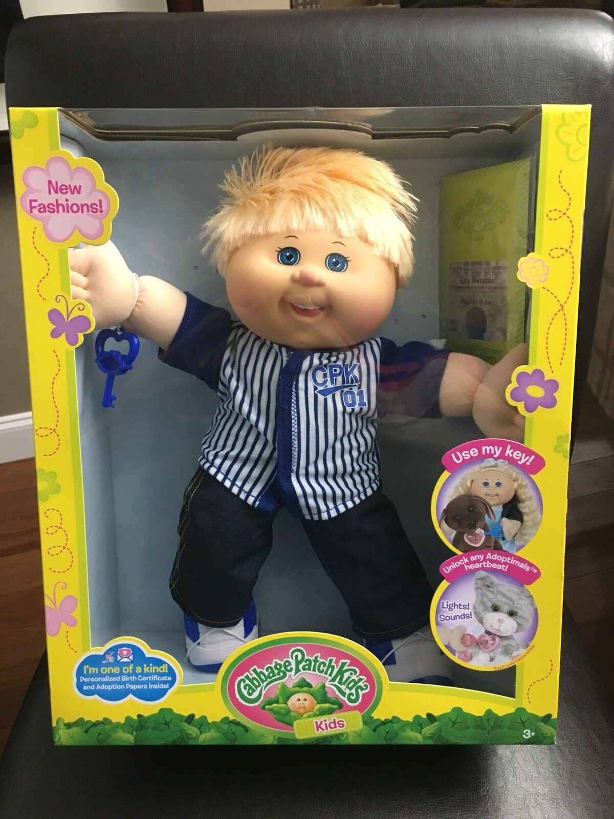 Cabbage Patch Kids 14  Muñeca de béisbol Boy con el ojo azul y cabello rubio muy difícil de encontrar