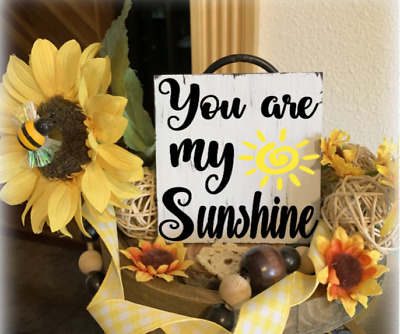 YOU ARE MY SUNSHINE MINI TIERED TRAY SIGN NURSERY KIDS CHILD/'S ROOM RUSTIC DECOR